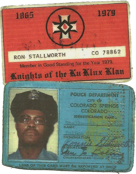Ron Stallworth Klan Card